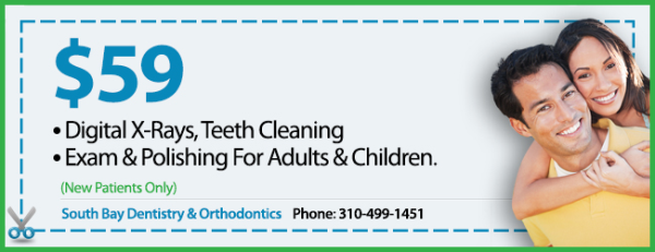 Coupon for $59 dental cleaning, exams & x-rays